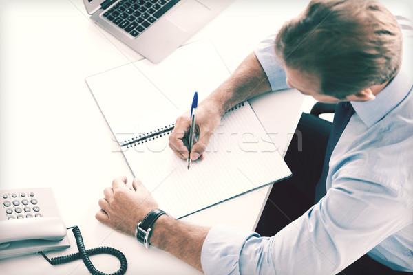üzletember ír notebook üzlet iroda iskola Stock fotó © dolgachov