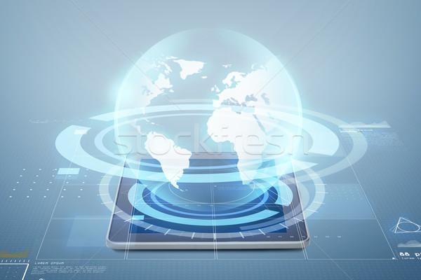 Computer wereldbol projectie elektronica technologie Stockfoto © dolgachov