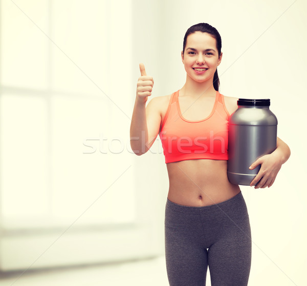 Jar proteine fitness Foto d'archivio © dolgachov