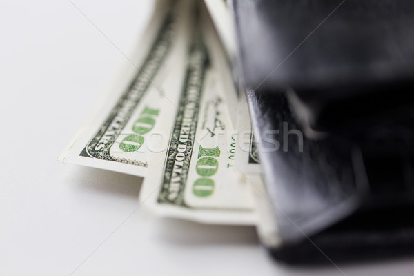 Dollar argent portefeuille Finance investissement Photo stock © dolgachov