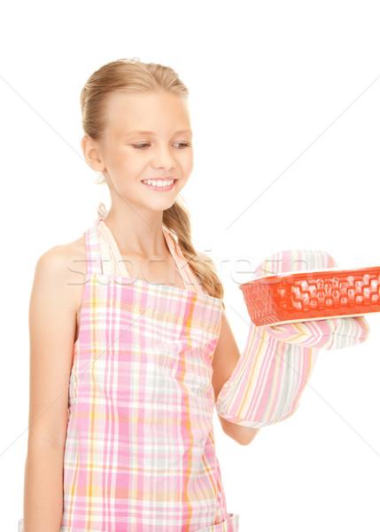 little housewife Stock photo © dolgachov
