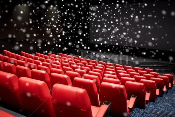 Film színház mozi üres auditórium szórakoztatás Stock fotó © dolgachov