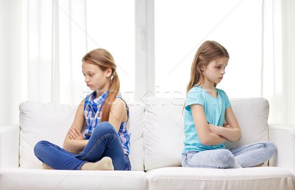 Stock foto: Sitzung · Sofa · home · Menschen · Kinder