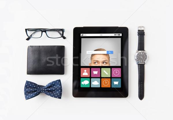 Stock fotó: Táblagép · keresés · bár · személyes · technológia · dolgok