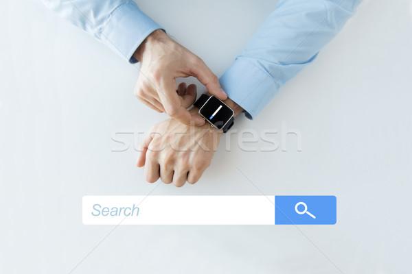 Kezek internet böngésző keresés üzlet technológia Stock fotó © dolgachov