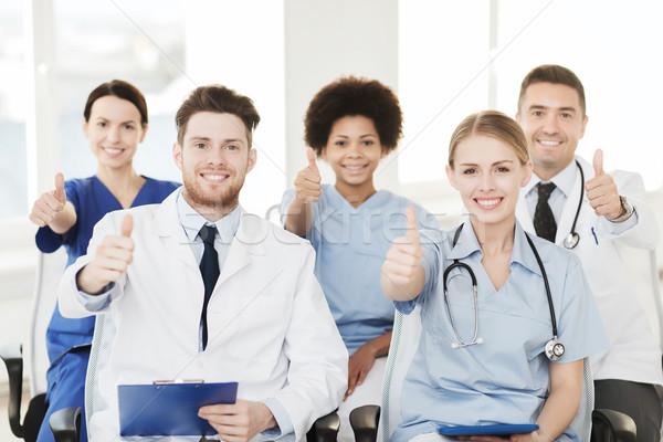 Groupe heureux médecins séminaire hôpital profession Photo stock © dolgachov