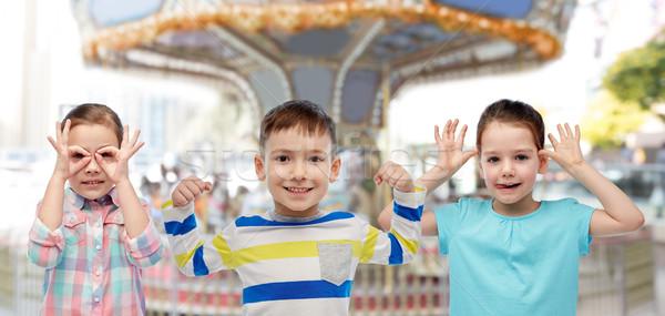 幸せ 子供 回転木馬 幼年 ストックフォト © dolgachov