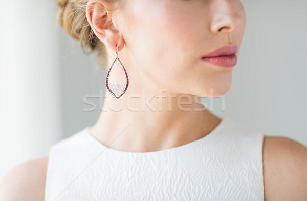 美人 顔 イヤリング 魅力 美 ストックフォト © dolgachov