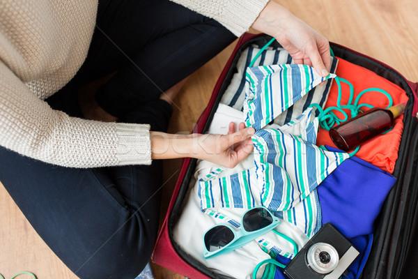 女性 旅行 袋 休暇 ストックフォト © dolgachov