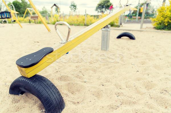 スイング 遊び場 幼年 オブジェクト ストックフォト © dolgachov