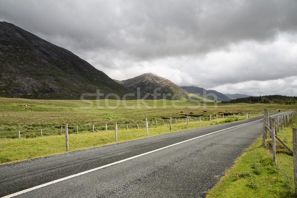 Aszfalt út Írország utazás vidék nyár Stock fotó © dolgachov