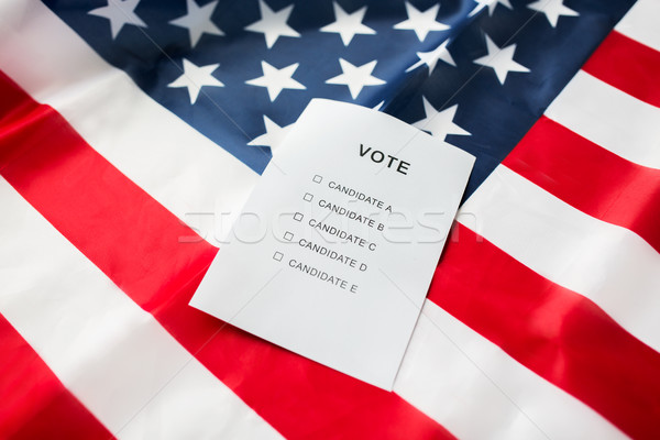 empty ballot or vote on american flag Stock photo © dolgachov