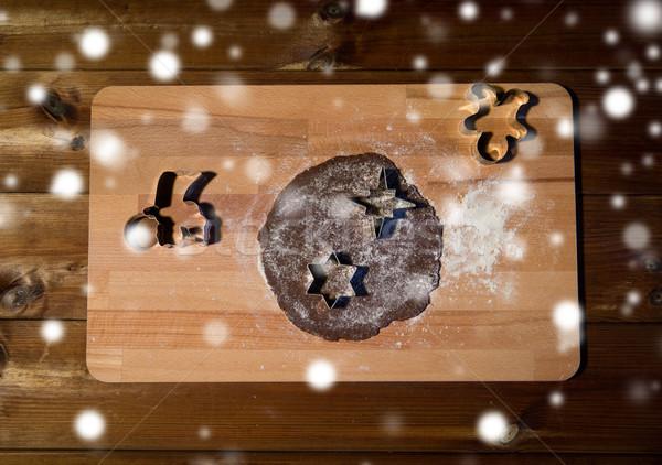Gengibre farinha conselho cozinhar Foto stock © dolgachov