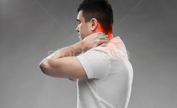 Adam boyun ağrısı insanlar sağlık Stok fotoğraf © dolgachov