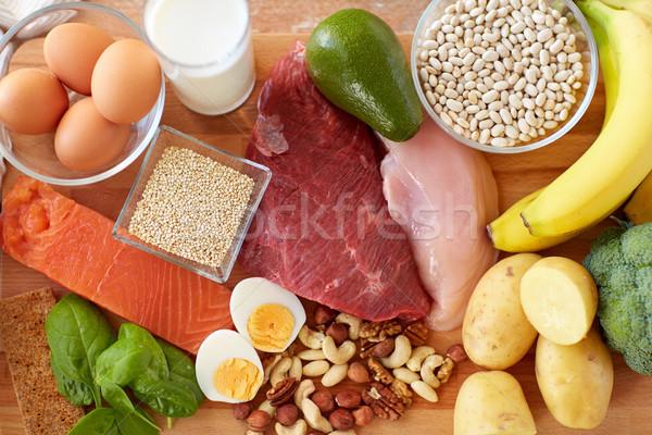 ストックフォト: 自然 · 食品 · 表 · 健康的な食事 · ダイエット · 卵