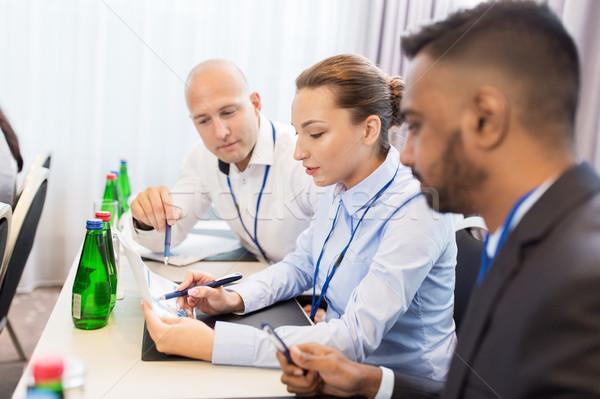 Gelukkig business team internationale conferentie zakenlieden onderwijs Stockfoto © dolgachov