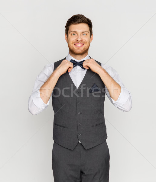Feliz hombre traje aderezo fiesta Foto stock © dolgachov