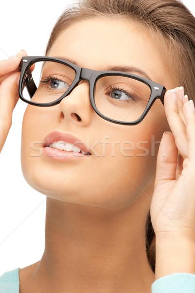 женщину очки фотография красоту очки Сток-фото © dolgachov