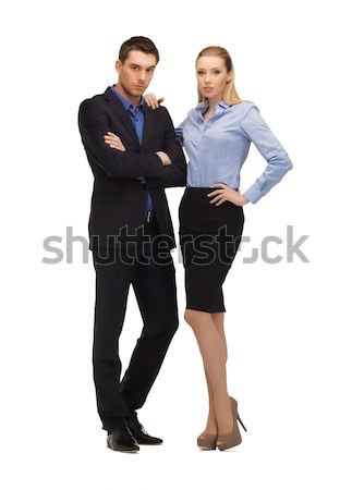 man and woman in formal clothes Stock photo © dolgachov