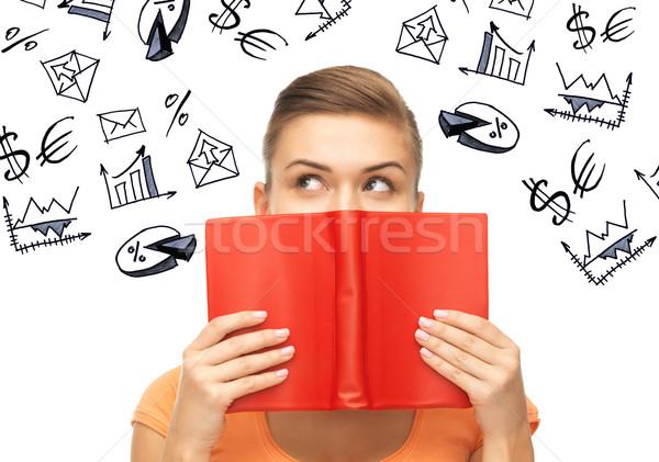 Nina estudiar ciencias económicas negocios mujer de negocios Foto stock © dolgachov