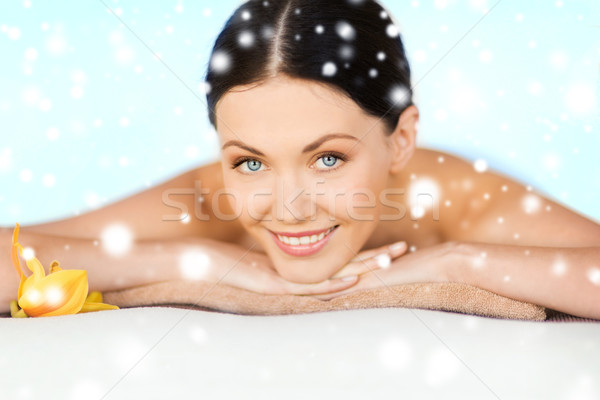 Nő fürdő egészség szépség szalon masszázs Stock fotó © dolgachov