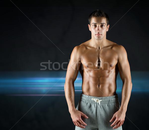 Foto stock: Jóvenes · masculina · desnudo · muscular · torso