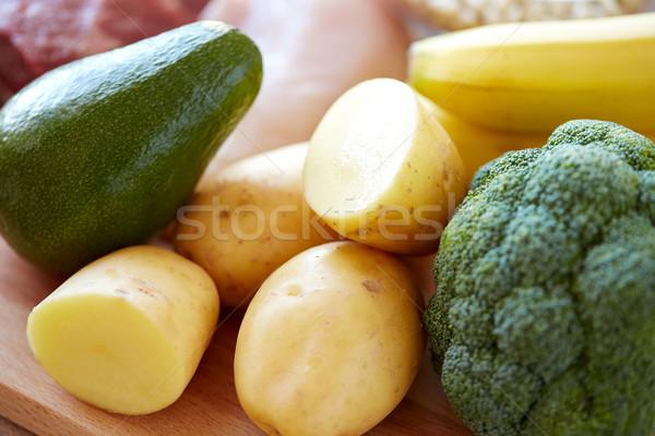 ブロッコリー アボカド バランスの取れた食事 料理 ストックフォト © dolgachov