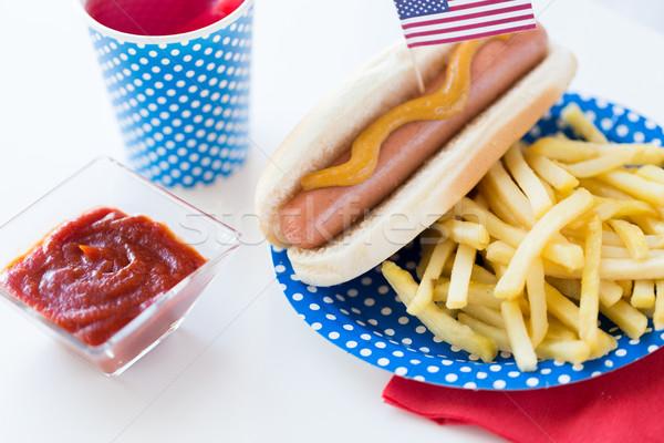Stockfoto: Voedsel · dranken · amerikaanse · dag · partij · vakantie
