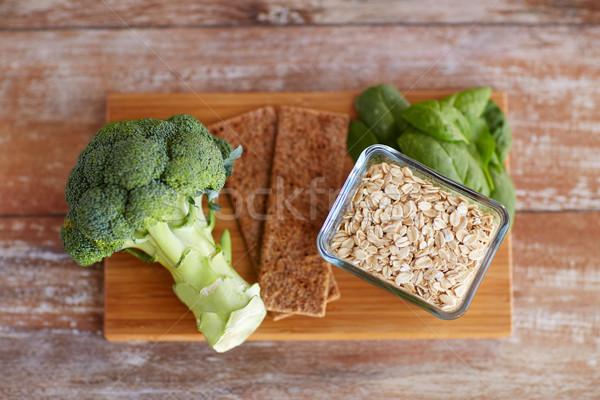 Stok fotoğraf: Gıda · zengin · lif · ahşap · masa · sağlıklı · beslenme