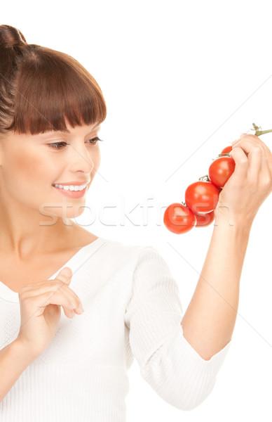 woman with ripe tomatoes Stock photo © dolgachov