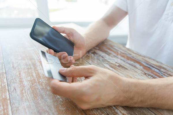 Сток-фото: рук · кредитных · карт · бизнеса · технологий