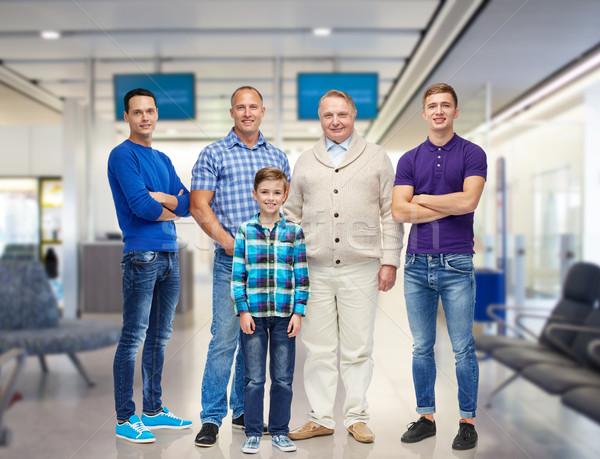 Grup gülen erkekler erkek seyahat turizm Stok fotoğraf © dolgachov
