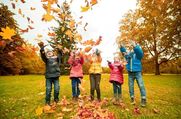 Photo stock: Heureux · enfants · jouer · parc · enfance