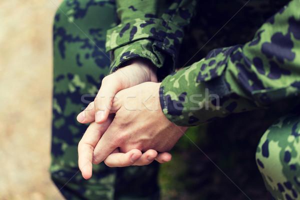 Jóvenes soldado guerra ejército Foto stock © dolgachov