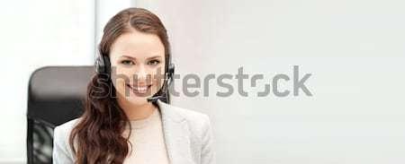 Línea de ayuda operador ordenador portátil oficina tecnología Foto Foto stock © dolgachov