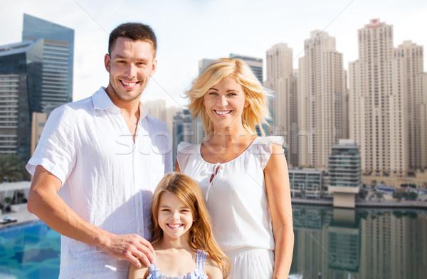 Família feliz Dubai cidade verão férias turismo Foto stock © dolgachov