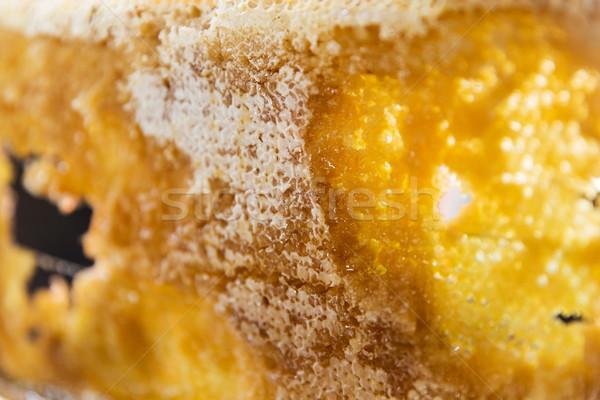 Miele a nido d'ape alimentare natura Foto d'archivio © dolgachov