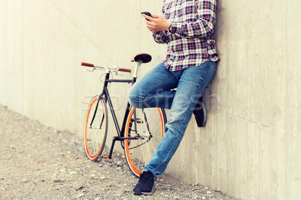 Stok fotoğraf: Adam · bisiklet · insanlar