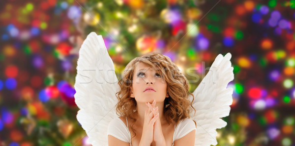 молиться ангела девушки религии Сток-фото © dolgachov