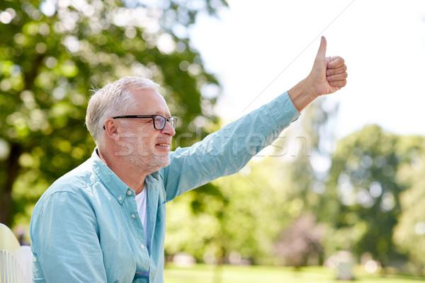 счастливым старший человека лет Сток-фото © dolgachov