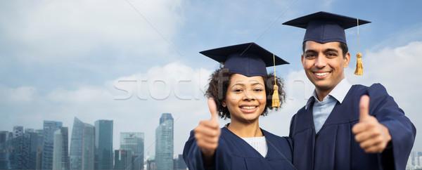 Diákok agglegények mutat remek város oktatás Stock fotó © dolgachov