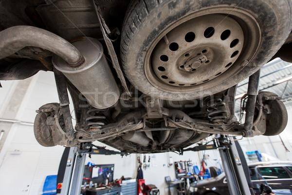 car on lift at repair station Stock photo © dolgachov