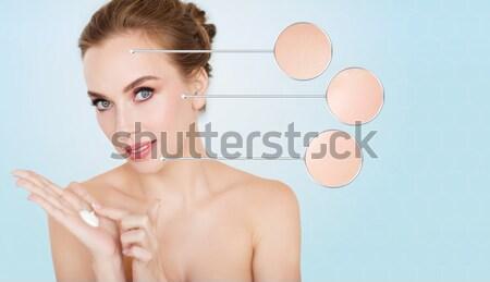 Foto d'archivio: Donna · luminoso · foto · bianco · faccia · capelli