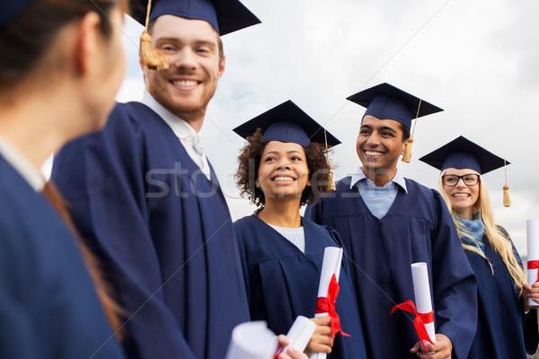 Mutlu Öğrenciler eğitim mezuniyet insanlar grup Stok fotoğraf © dolgachov