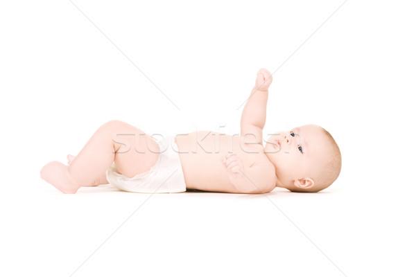 赤ちゃん 少年 おむつ 画像 白 ストックフォト © dolgachov