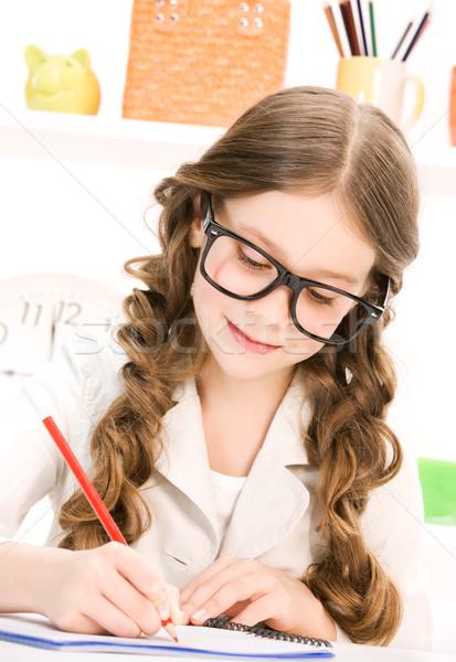 általános iskola diák fényes kép tanul boldog Stock fotó © dolgachov
