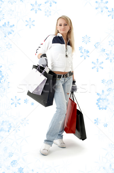 торговых снега красоту Сток-фото © dolgachov