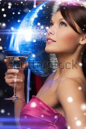 çıplak parti dansçı kız disko topu resim Stok fotoğraf © dolgachov