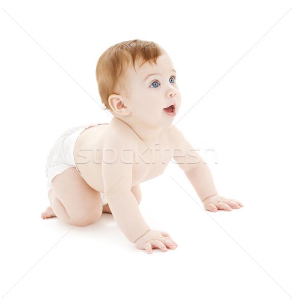 ストックフォト: 赤ちゃん · 少年 · おむつ · 画像 · 白