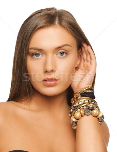 Mujer hermosa brillante Foto mujer cara belleza Foto stock © dolgachov